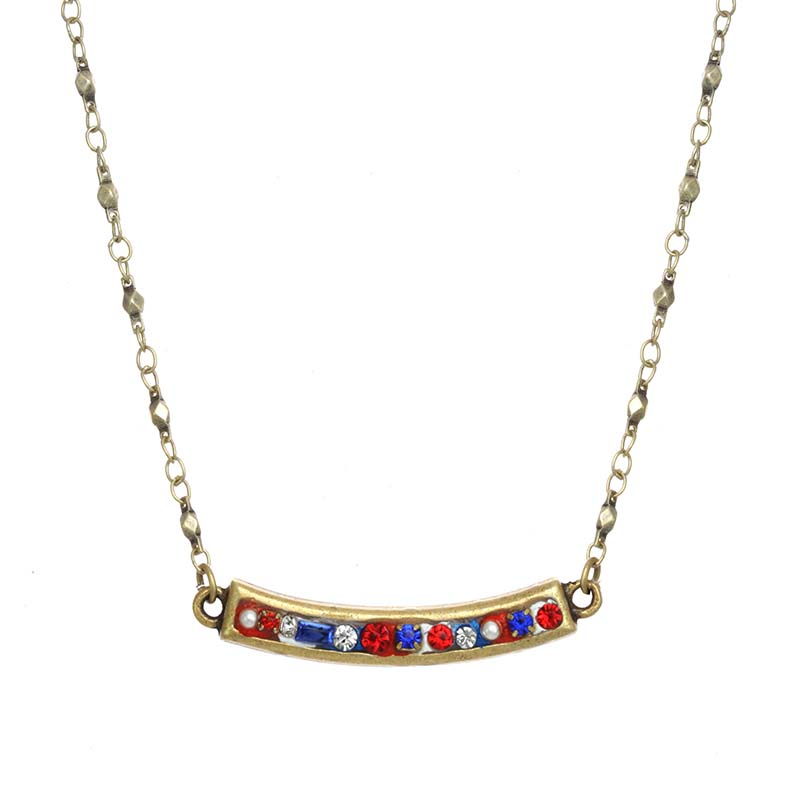 4th of July Bar Necklace