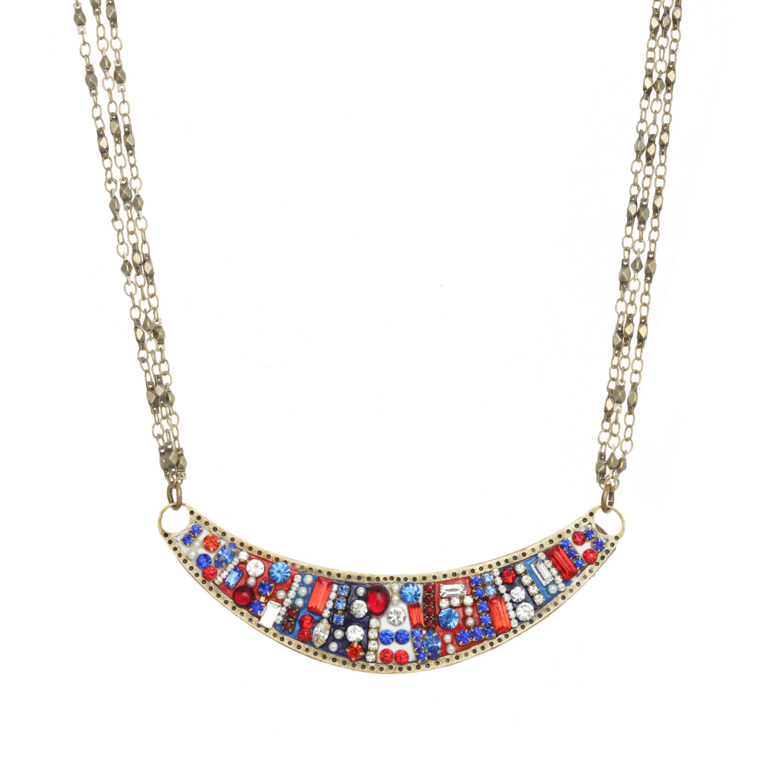 4th of July Crescent Necklace