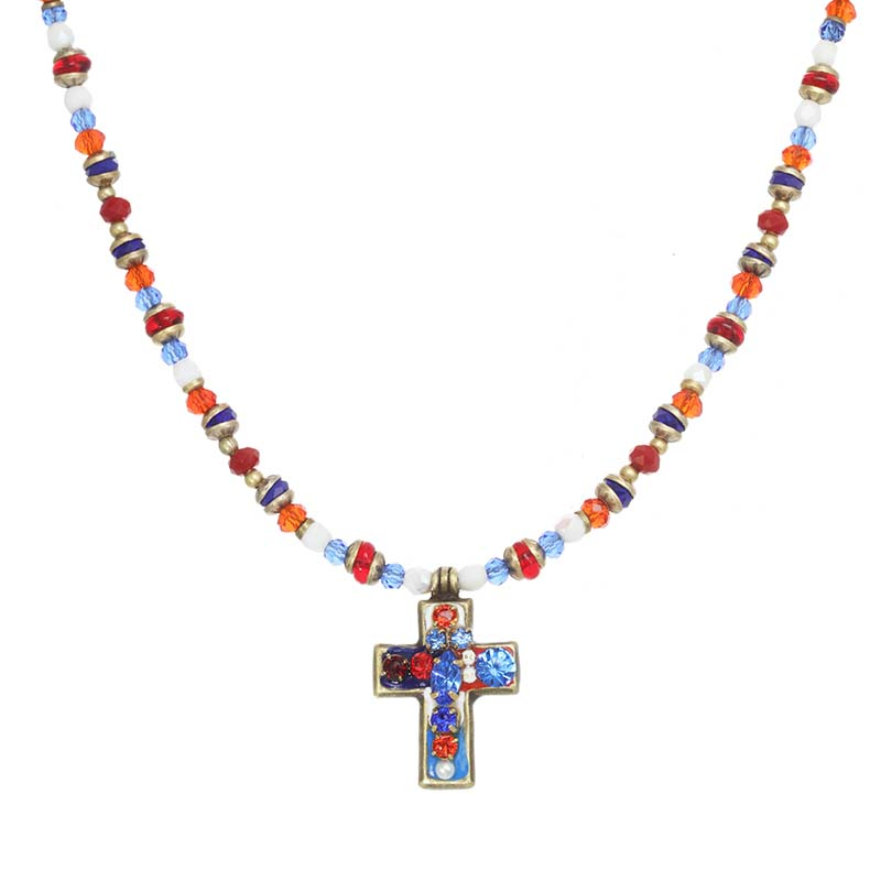 4th of July Cross Necklace