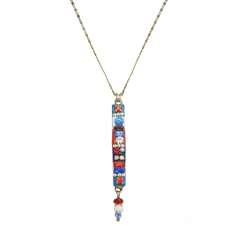 4th of July Long Bar Necklace