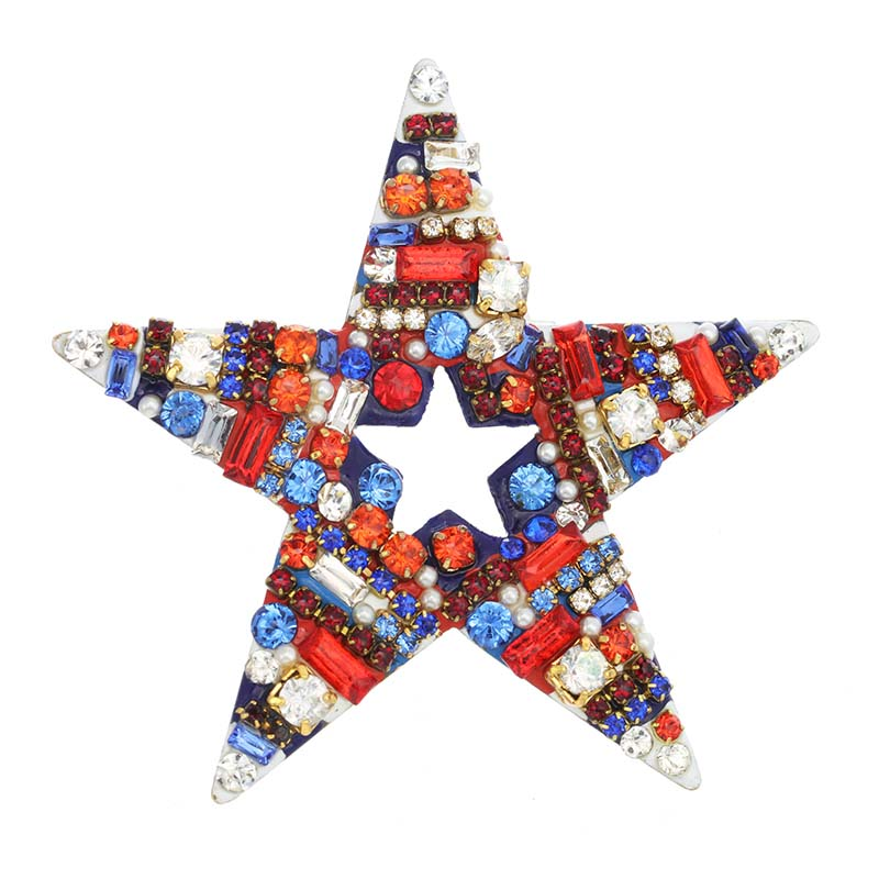 4th of July Star Brooch