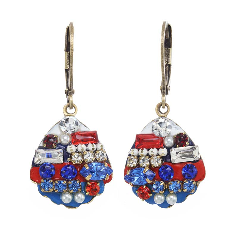 4th of July Small Drop Earrings
