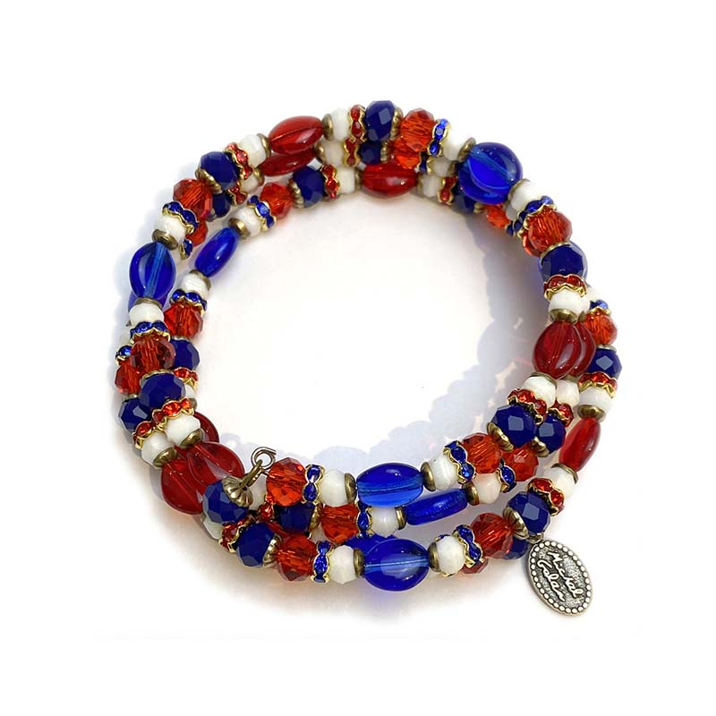 4th of July Memory Wire Bracelet