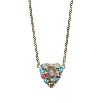 Rose Triangle Heart Necklace