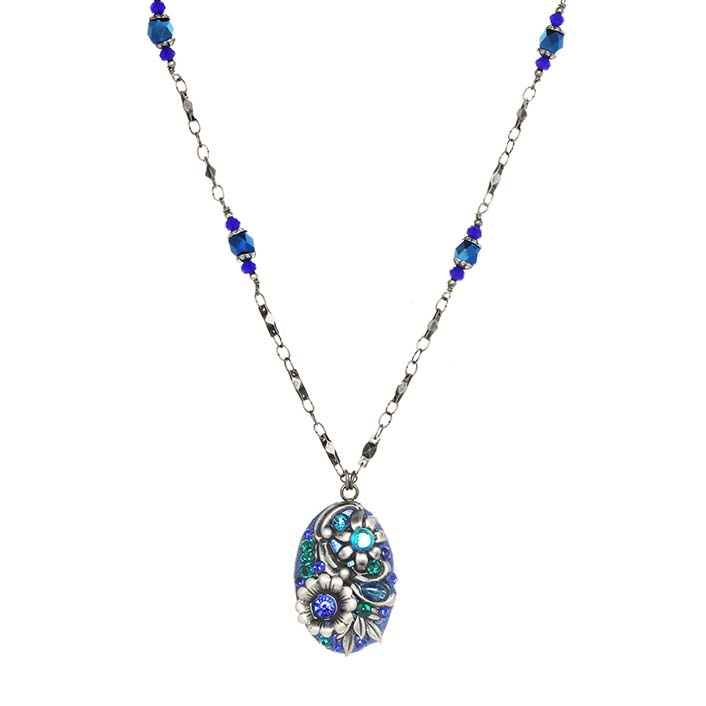 Cerulean Oval Necklace