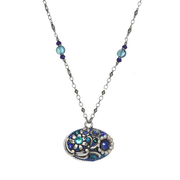 Cerulean Long Oval Necklace