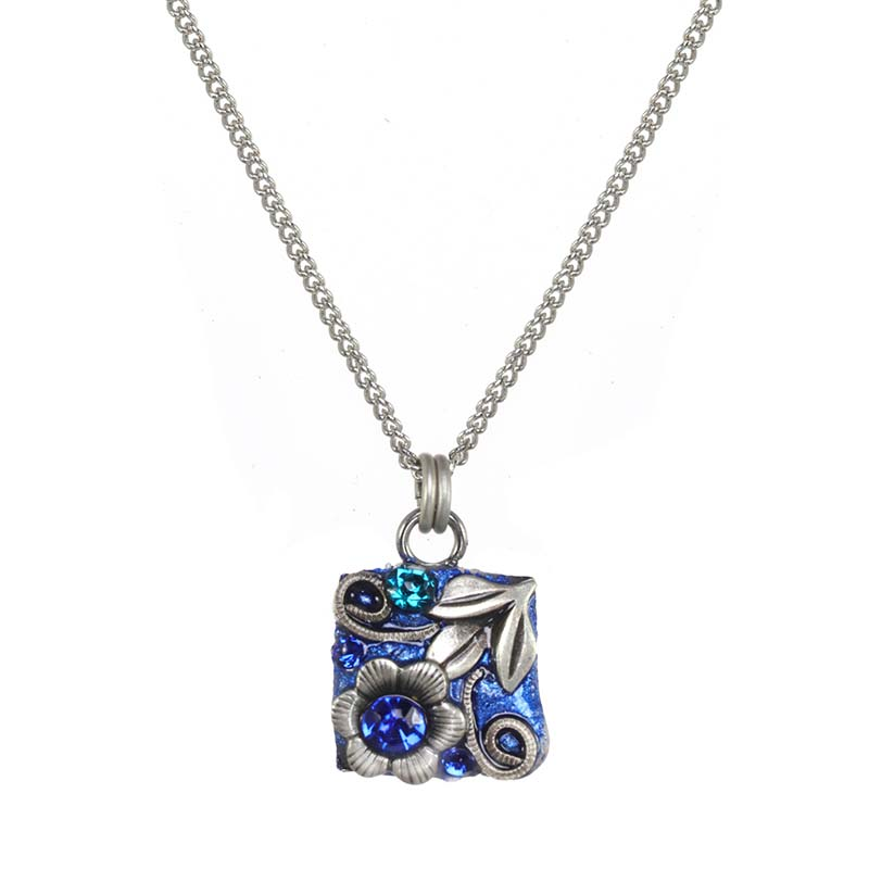 Cerulean Square Necklace