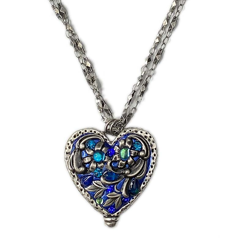 Cerulean Large Heart Necklace