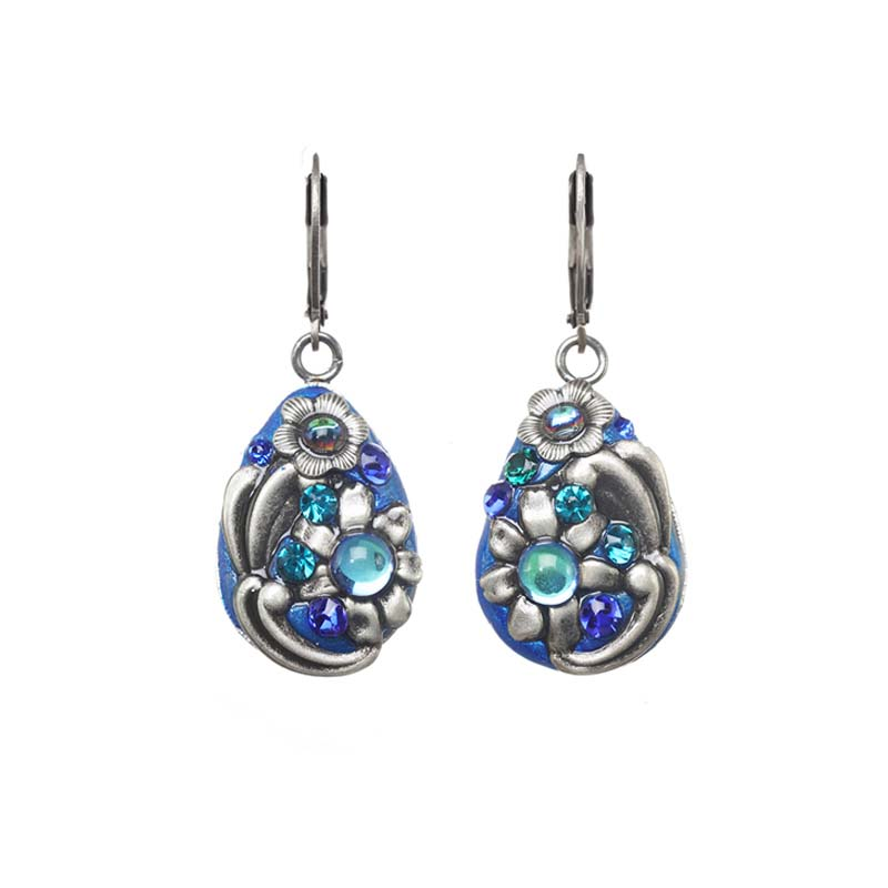 Cerulean Teardrop Danging Earrings