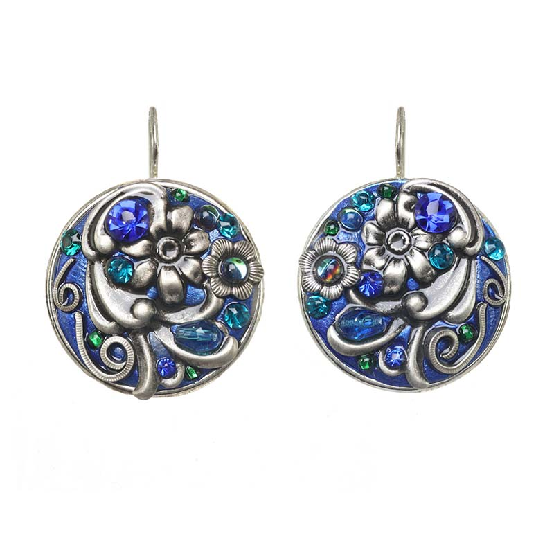 Cerulean Circle Wire Earrings