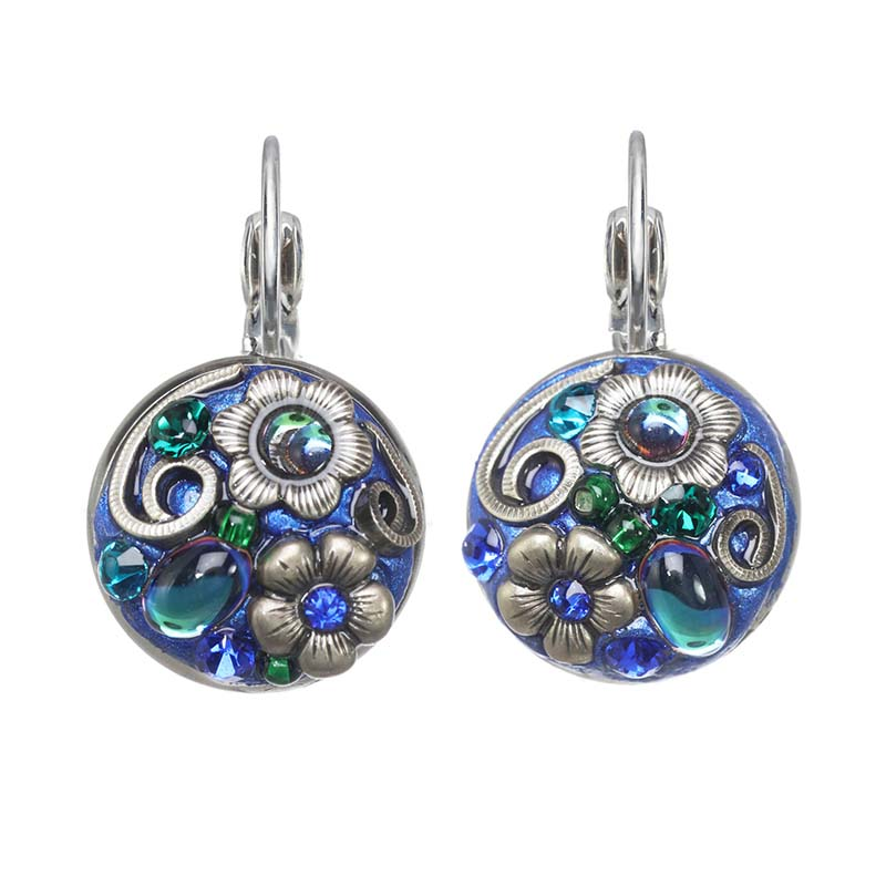 Cerulean Circle Earrings
