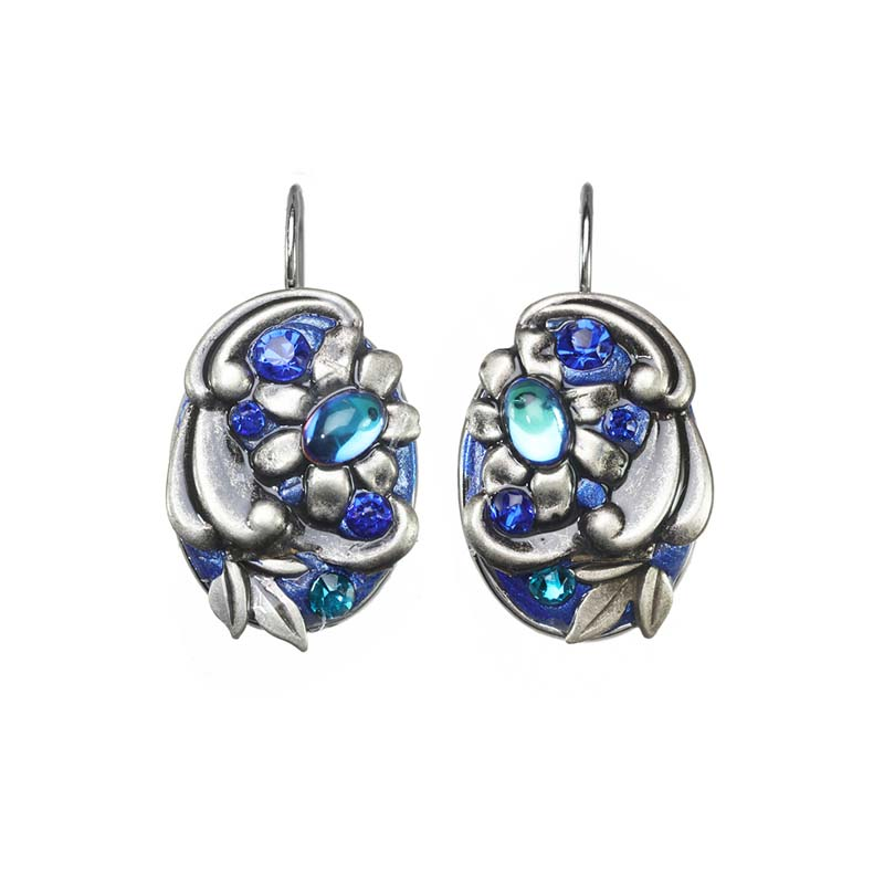 Cerulean Oval Wire Earrings