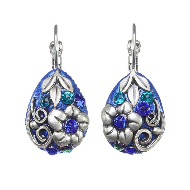 Cerulean Teardrop Lever Earrings