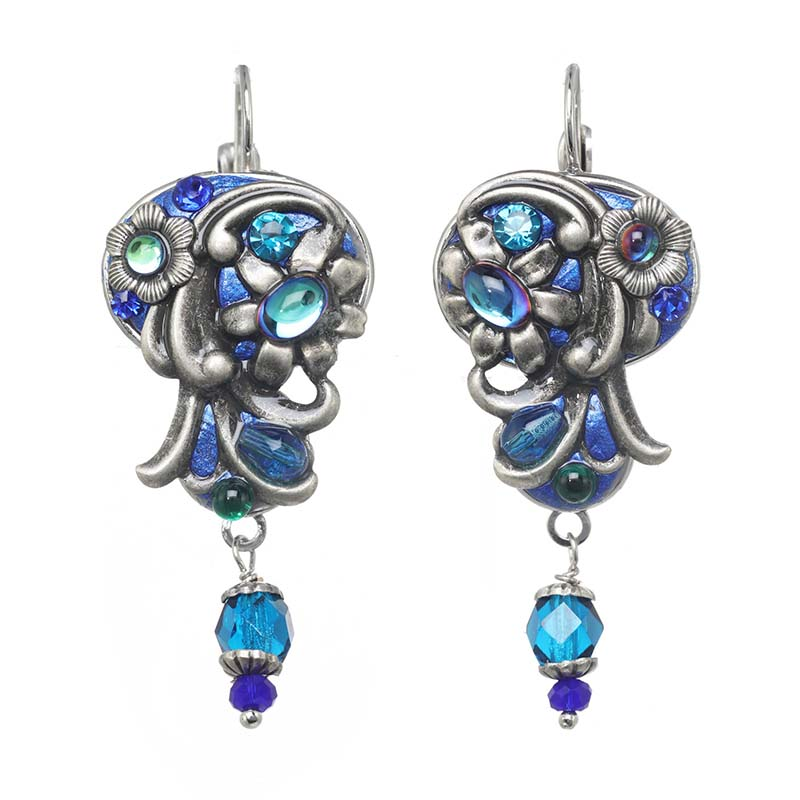 Cerulean Ornate Earrings