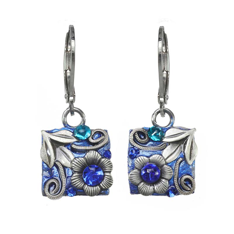 Cerulean Square Earrings