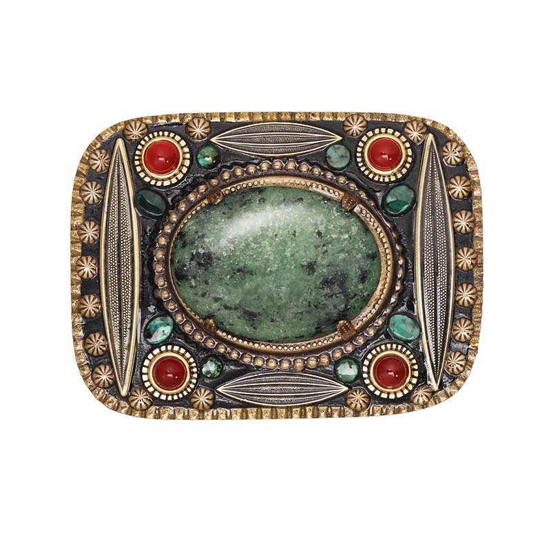 Turquoise and Carnelian Belt Buckle