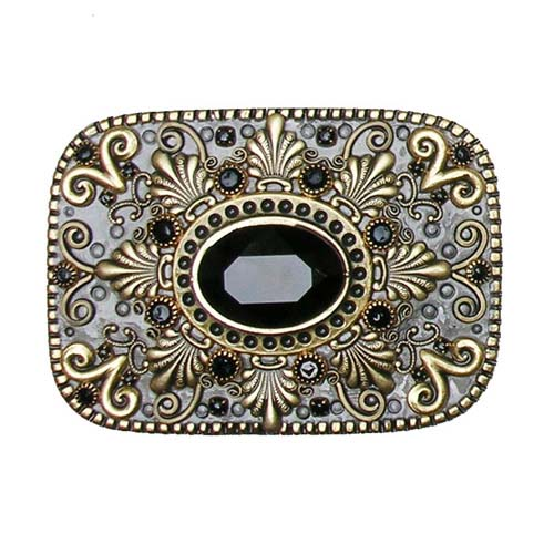 Black Onyx Belt Buckle