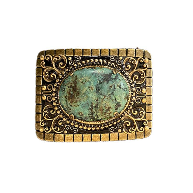 African Turquoise Belt Buckle