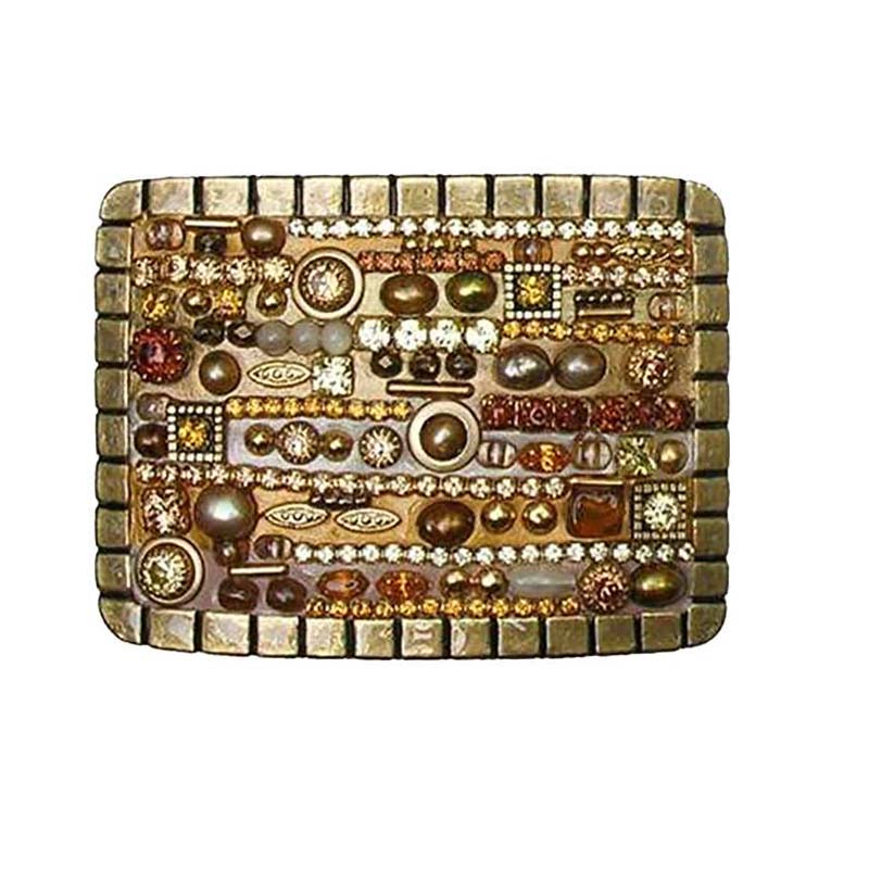 Citrine and Crystal Mosaic Belt Buckle