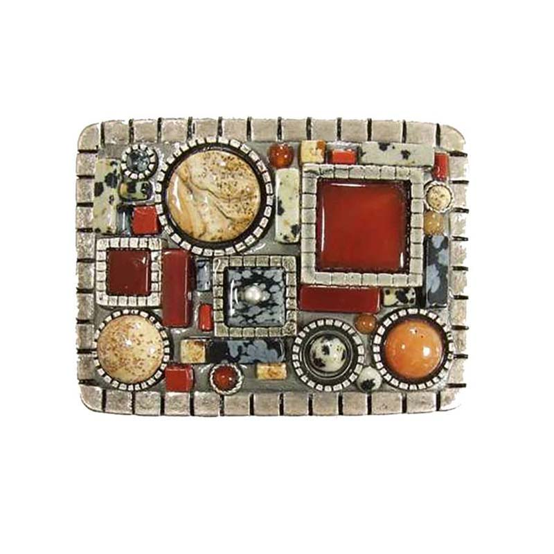 Jasper and Agate Belt Buckle