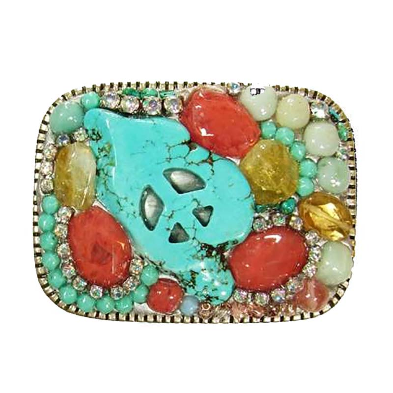 Pastel Crystal Belt Buckle