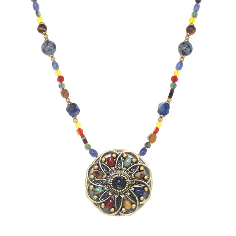 Durango Medium Circle Beaded Necklace