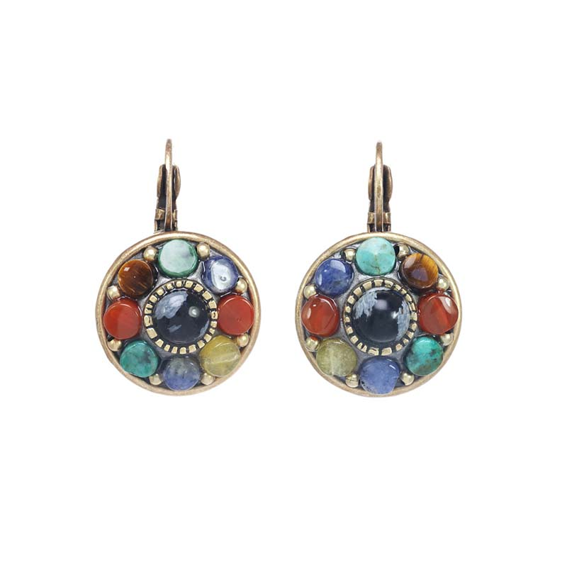Durango Circle Lever Earrings