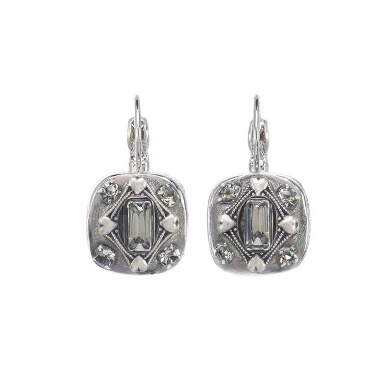 Snow Crystal Square Earrings