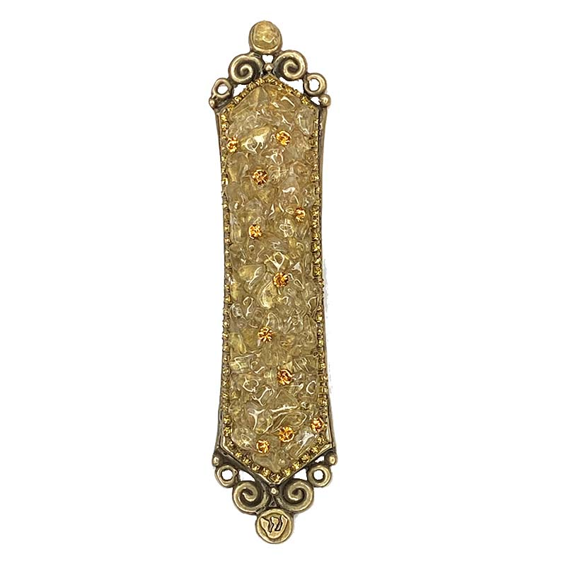 Citrine and Crystal Mezuzah
