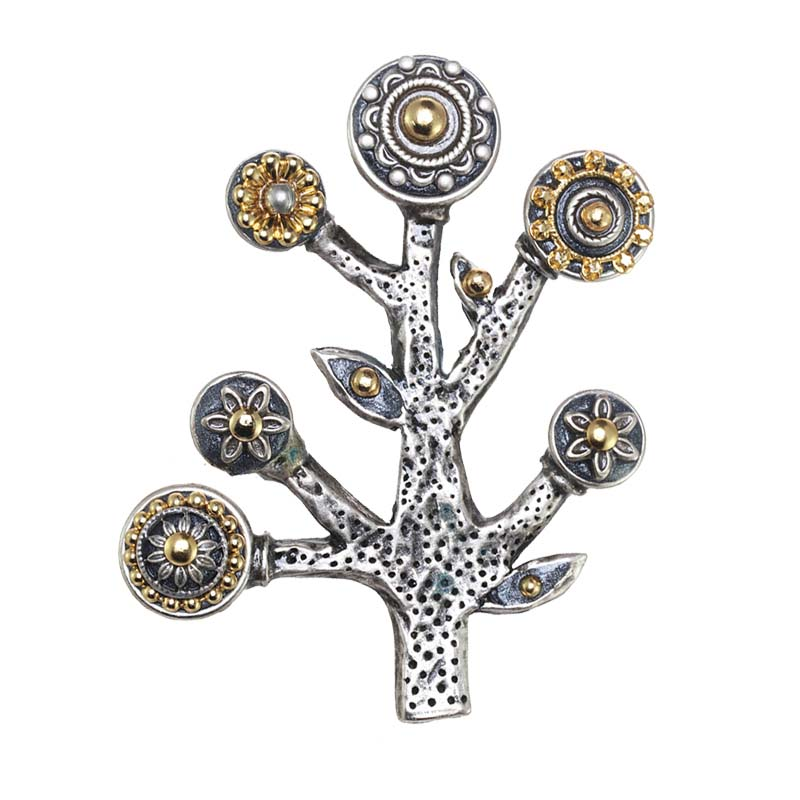 Mixed Metal Tree of Life Pin