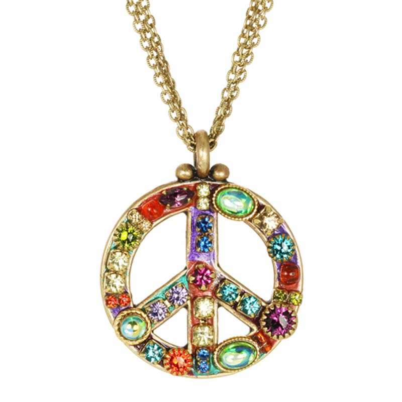Multibright Peace Sign Necklace