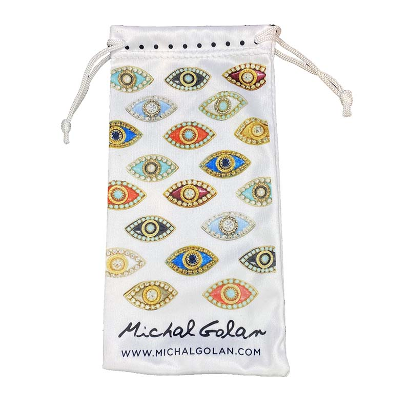White Cloth Eyeglass Pouch