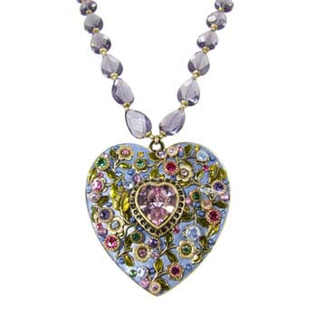 Lilac Garden Heart Necklace