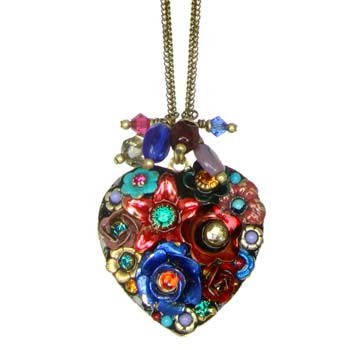 Eden Heart Necklace with Dangling Beads