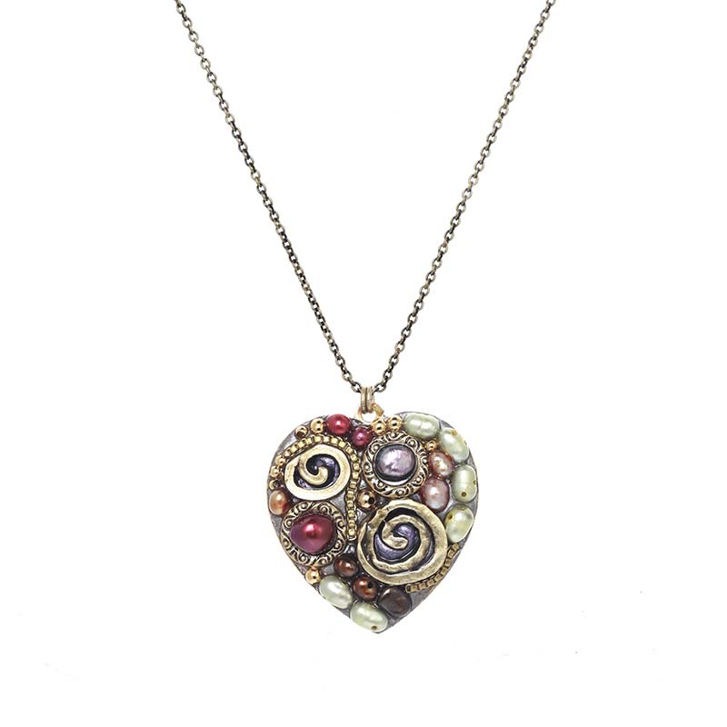 Sunset Heart Necklace