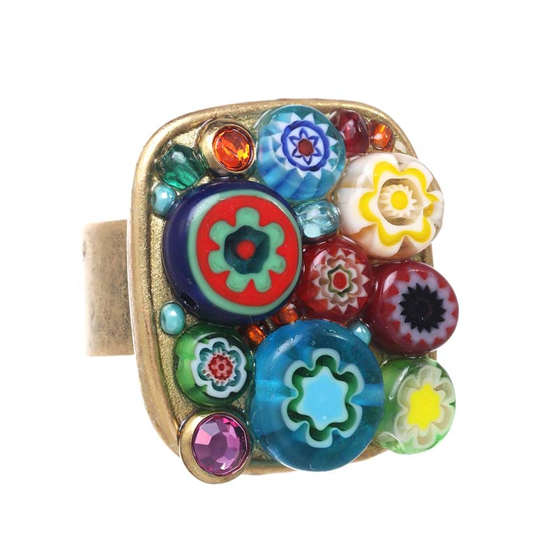 Square Millefiori Ring