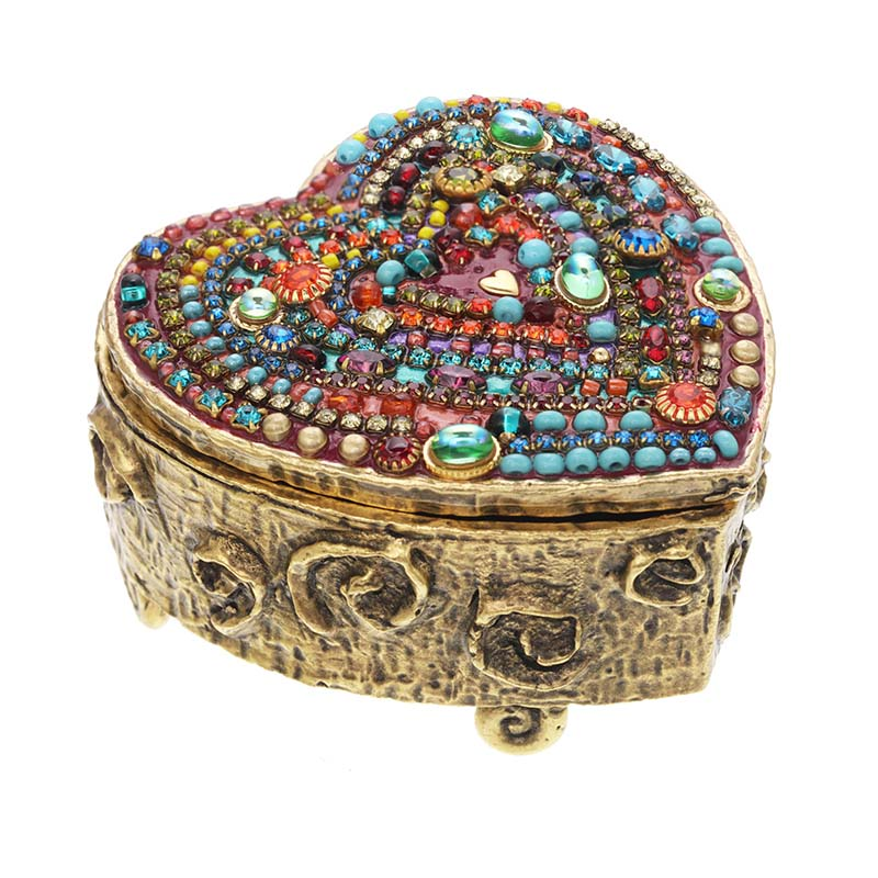 Multi Bright Heart Jewelry Box