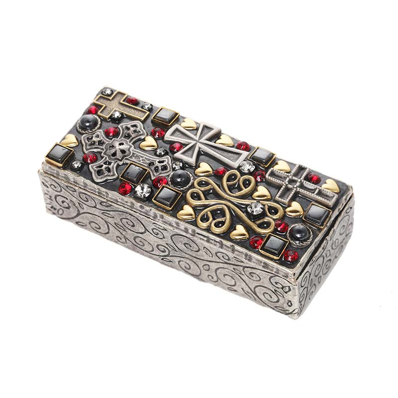Crosses and Hearts Rectangle Jewelry Box