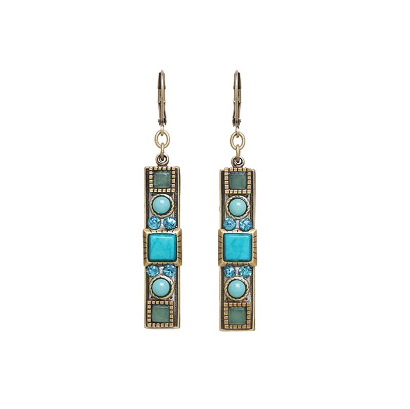 Nile Long Rectangle Earrings