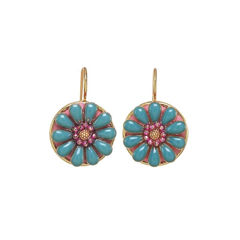 Teal Bloom Earrings