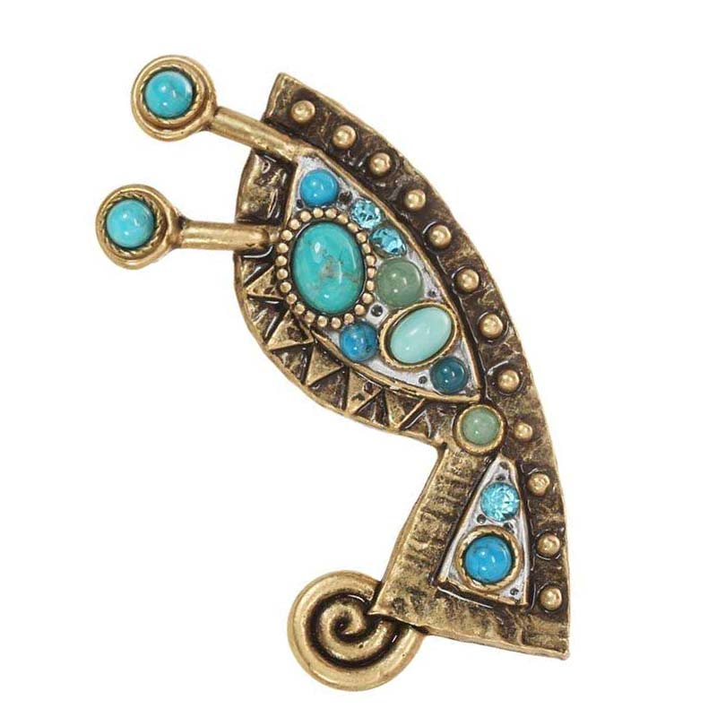 Nile Abstract Brooch