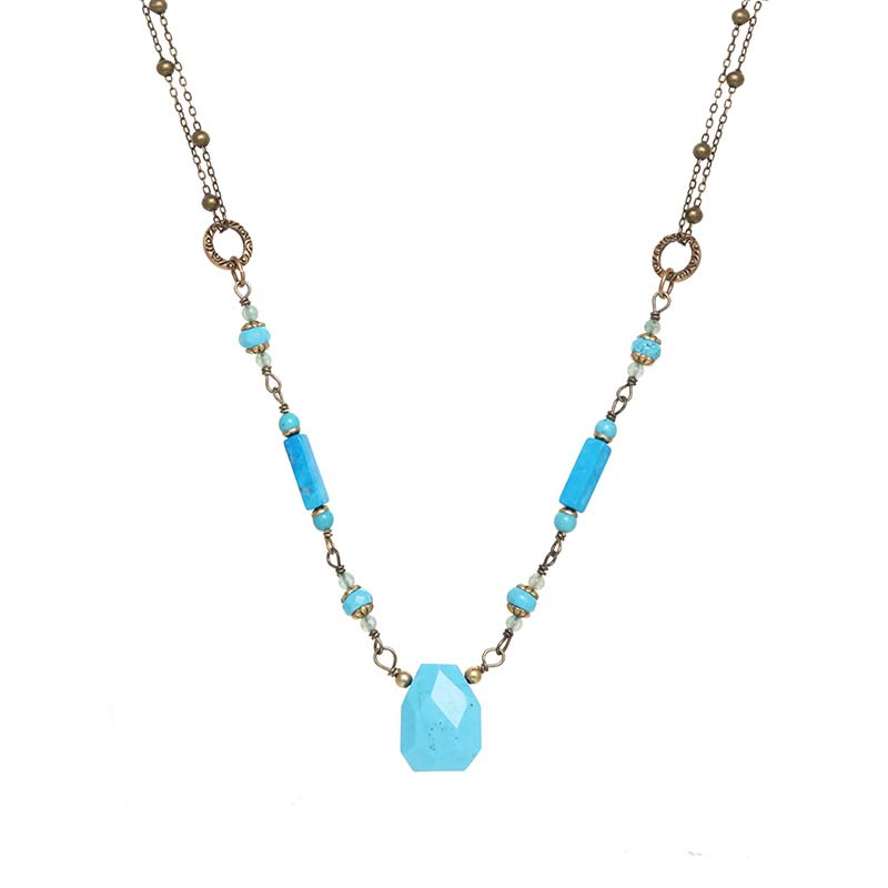 Nile Beaded Crystal Necklace