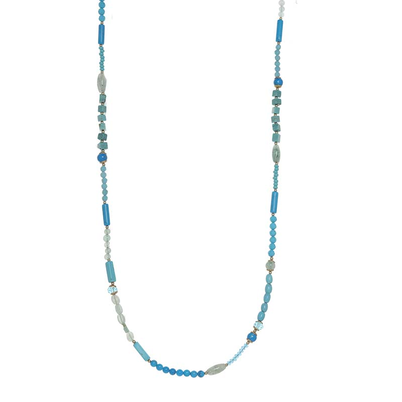 Nile Long Beaded Necklace