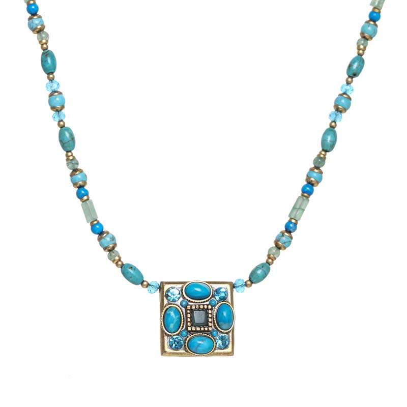 Nile Square Beaded Necklace