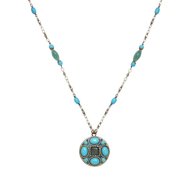 Nile Circle Semi Beaded Necklace