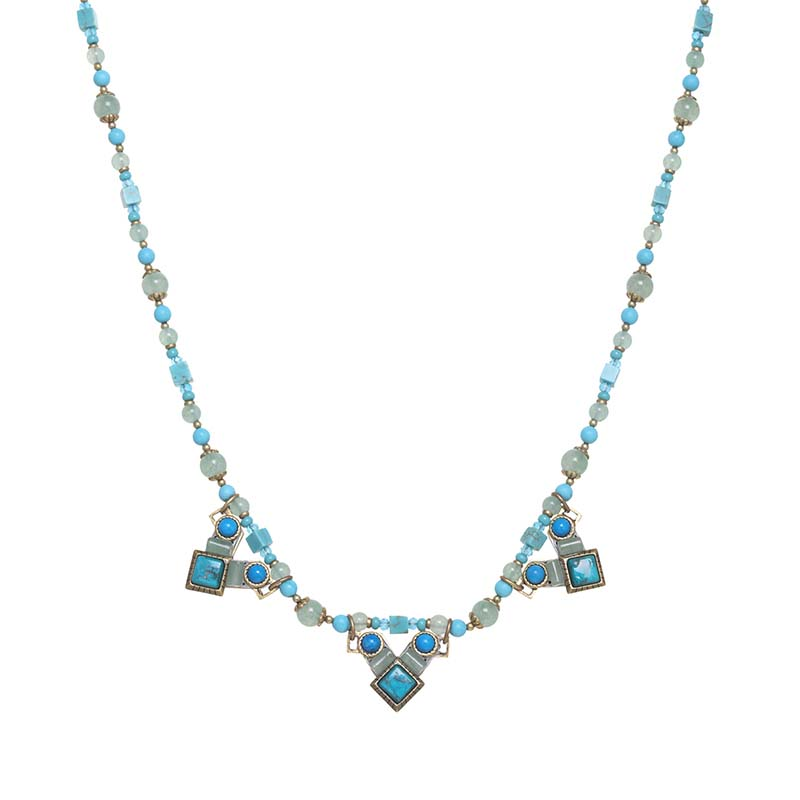Nile Long Multi Triangle Necklace