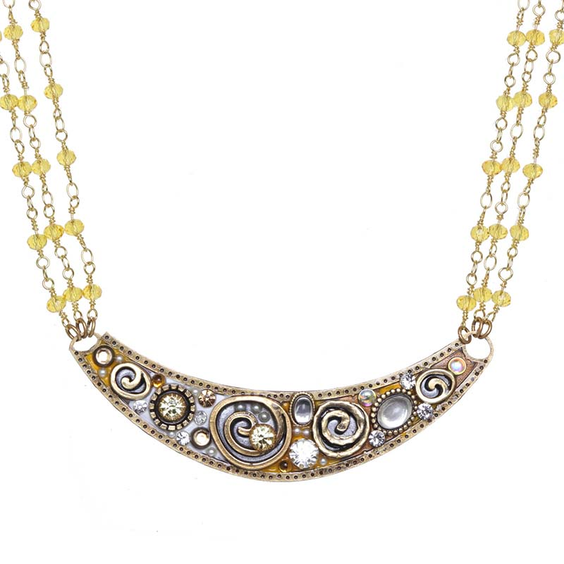Champagne Crescent Necklace