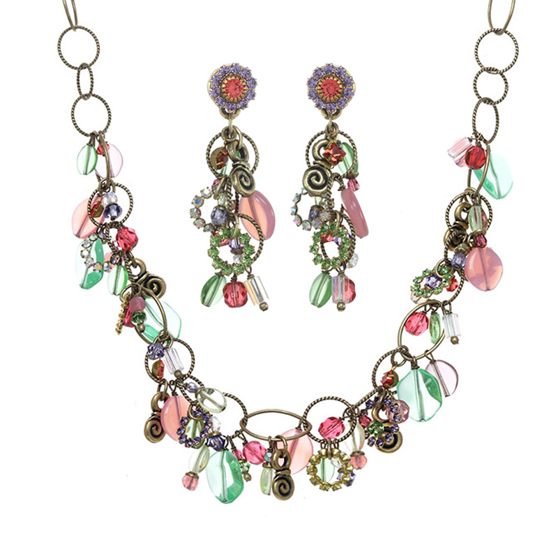 Stardust Necklace and Earrings Set