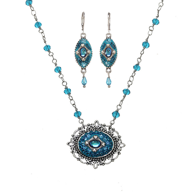 Splash Necklace and Earrings Set