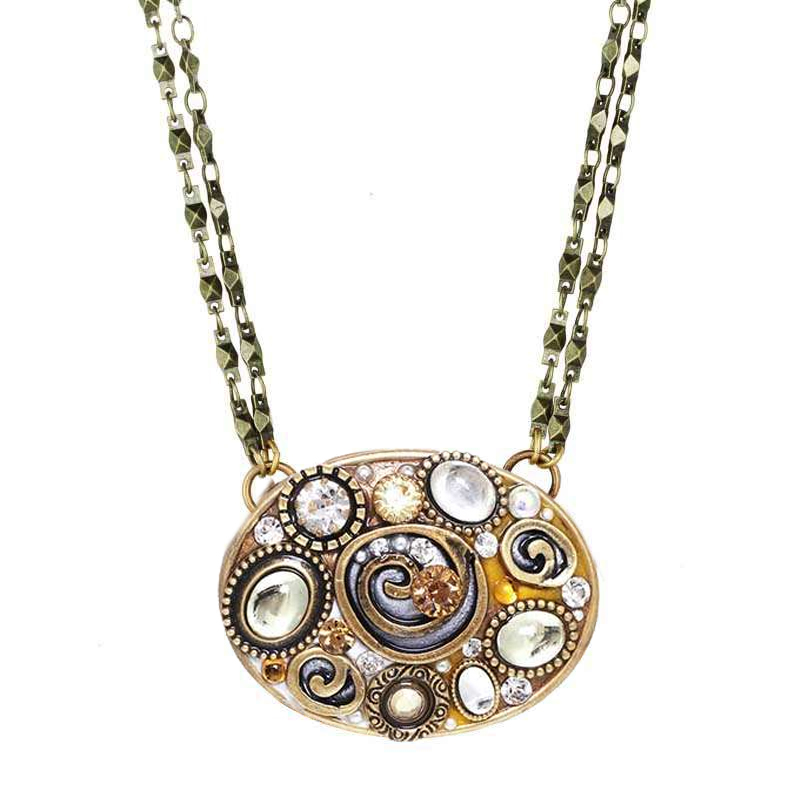 Champagne Large Oval Necklace
